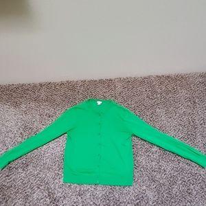 J Crew Kelly green cardigan Medium